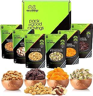 Sponsored Ad - Gourmet Dried Fruit & Nut Gift Basket, Green Box (6 Bags) - Easter Food Arrangement Platter, Care Package V...