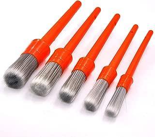 5 Piece Chalk Paint Wax Brush Set with Premium SRT bristles Paint Brush Set