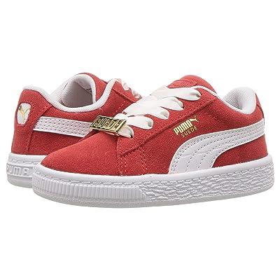 Puma Kids Suede Classic BBOY Fabulous (Toddler) (Flame Scarlet/PUMA White) Boys Shoes
