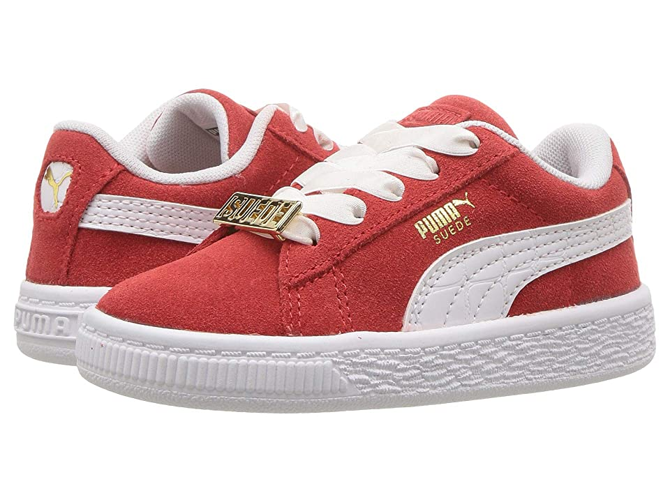 Puma Kids Suede Classic BBOY Fabulous (Toddler) (Flame Scarlet/PUMA White) Boys Shoes