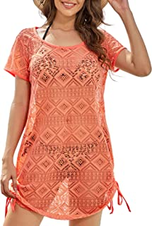 AS ROSE RICH Swimsuit Cover Ups for Women - Beach Dresses for Women - Diamond Lace Dress - Regular and Plus Size