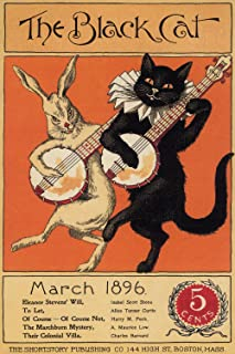 The Black Cat - March 1896 American Literary Magazine Cover Poster Reproduction (18
