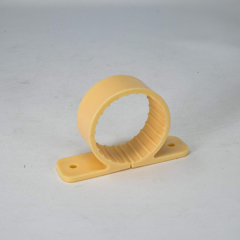 PROCURU Fashion 1-Inch Plastic Pipe Clamp 2-Hole 1-1 8