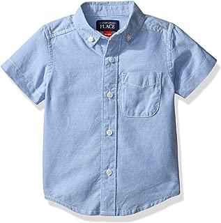 The Children's Place Boys' Short Sleeve Uniform Oxford Shirt