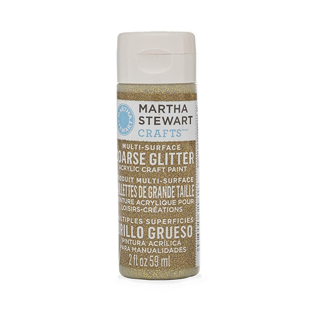 Martha Stewart Crafts Multi-Surface Coarse Glitter Acrylic Craft Paint in Assorted Colors (2-Ounce), 32961 Florentine Gold