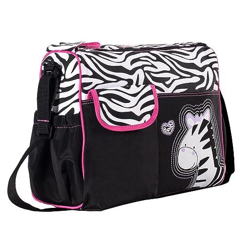 Soho Collection, Zebra Diaper Bag 5 Pieces Set