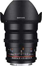 Samyang 24mm T1.5 ED AS IF UMC VDSLR SLR - Objetivo (SLR, 13/12, Objetivo Ancho, 0,25 m, Sony A, Manual)