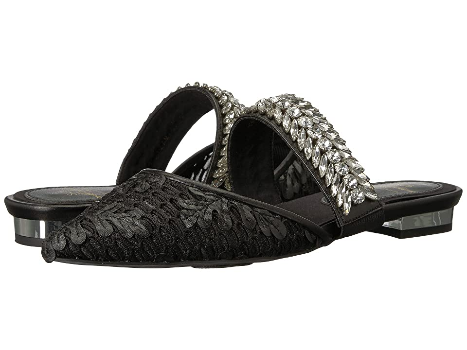 Suecomma Bonnie Jewel Strap Mesh Mules (Black/Multi) Women