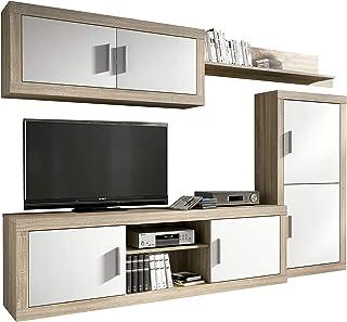 comprar comparacion HomeSouth - Mueble de Comedor, Salon Modelo Ambar, Acabado Color Cambria y Blanco, Medidas: 248 cm de Ancho