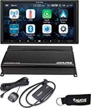 Alpine iLX-W650 Compatible with CarPlay & Android Auto - Includes KTA-450 Power Pack, SXV300V1 SiriusXM Tuner