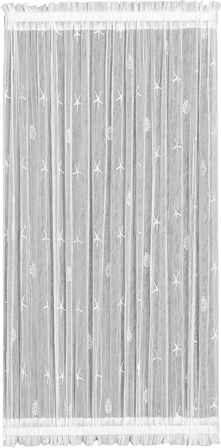 Heritage Lace Sand Shell 45-Inch by 72-Inch White Door Panel