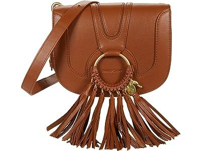 See by Chloe Hana Small Suede Leather Crossbody (Caramello) Cross Body Handbags