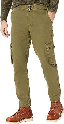 Eli Washed Cotton Cargo Pocket Trousers