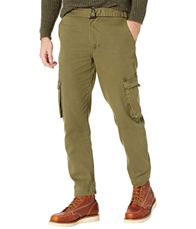 NATIVE YOUTH Eli Washed Cotton Cargo Pocket Trousers (Khaki) Men