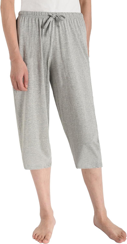Latuza Women's Cotton Capri Pants Sleep Capris