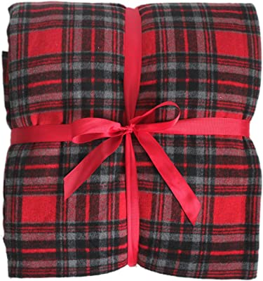 "Gireshome 50"" 60"" High Density Thick Soft Sherpa Blanket Plaid Double Side sprin Winter Thick Warm Blanket Super Warm Soft Throw on Sofa/Bed/Travel"