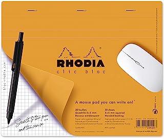 Rhodia Clic Block Mousepad Schreibblock 190 x 230 surfin '', 30 Blatt Papier (80 g/m ², abnehmbarer (5x5)