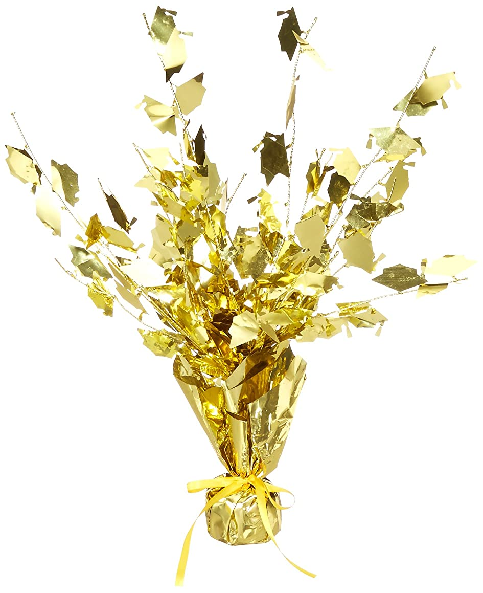 Graduate Cap Gleam 'N Burst Centerpiece (gold) Party Accessory  (1 count) (1/Pkg)