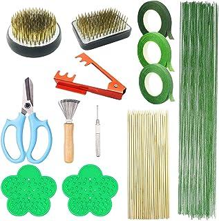 N|A Woohome Lot de 13 outils pour arrangement floral, grenouille avec joint en caoutchouc, supports ronds pour fleurs, rub...