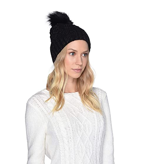 UGG Cable Knit Pom Beanie at Zappos.com d9b14ab37943