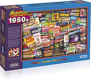 1980s Sweet Memories 1000 Piece Jigsaw Puzzle   Sustainable Puzzle for Adults   Premium 100% Recycled Board   Great Gift f...