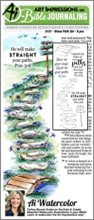 Art Impressions Bible Journaling Watercolor Rubber Stamps-Stone Path