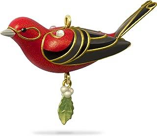 Hallmark Keepsake Mini Christmas Ornament 2018 Year Dated, Red Tanager Bird Miniature, 1.13