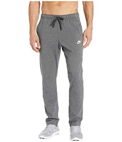 Nike NSW Club Pants Open Hem Jersey (Charcoal Heather/White) Men