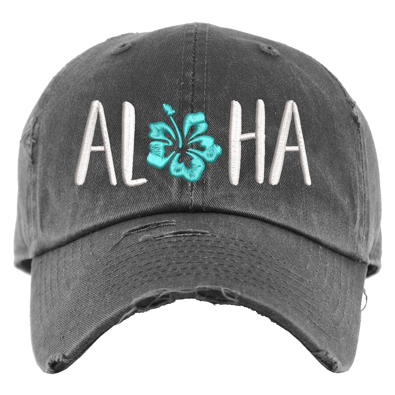 Aloha Hat Recommendation Distressed Baseball Cap 55% OFF Hawaiian Ponytail OR V