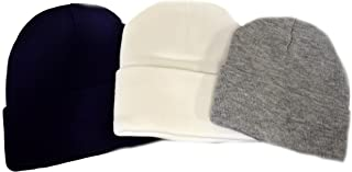 Great Deals! 3-pack Knit Beanies/ Gray, Navy, and White
