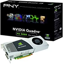 NVIDIA Quadro FX 5800 by PNY 4GB GDDR3 PCI Express Gen 2 x16 Dual DVI-I DL DisplayPort and Stereo OpenGL, DirectX, CUDA, a...