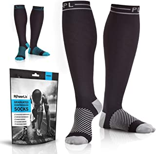 Powerlix Compression Socks for Women & Men (Pair) for Circulation, Neuropathy, Swelling & Pain Relief, 20-30 mmHg Medical ...
