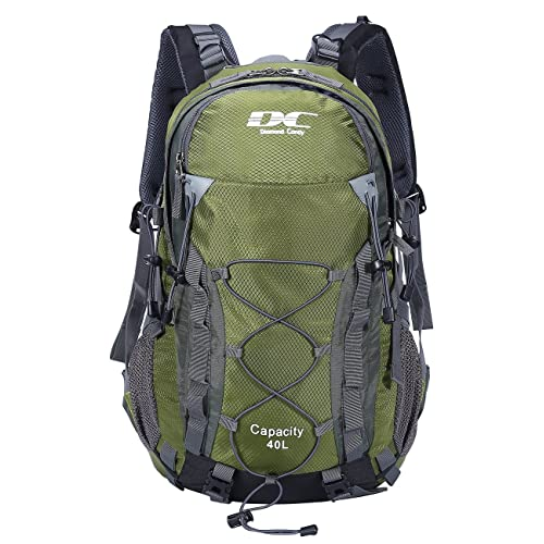 Diamond Candy Hiking Backpack Waterproof 40l Outdoor Backpacks for Men and  Women with Rain Cover 7dcf286116d85