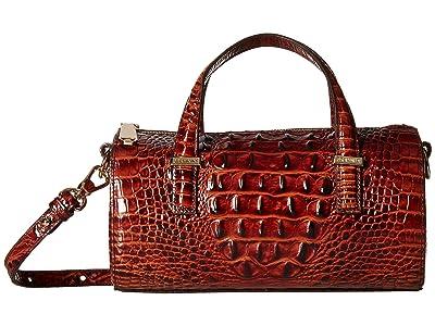 Brahmin Claire Crossbody (Pecan) Cross Body Handbags