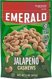 Emerald Jalapeño Cashews Stand Up Resealable Bag, 5 Ounce (Pack of 6)