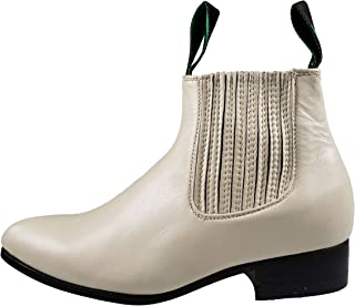 Men's Botin Charro 500 Tradicional Ankle Boots Leather Color Bone