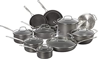 Cuisinart Chef's Classic Non-Stick Hard Anodized, 17 Piece Set, Black