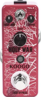 Koogo Heavy Metal Distortion Pedal Holy War Effect Pedals for Electronic Guitar Bass with..