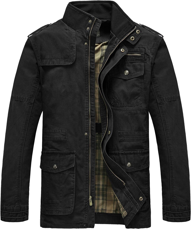 Heihuohua Import Men's Field Jacket Cotton Collar Safety and trust Mil Lightweight Stand