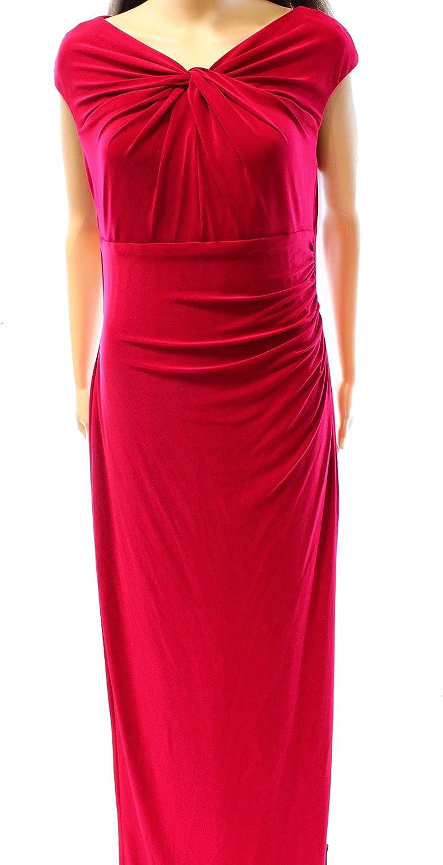 LAUREN RALPH LAUREN Women's Svendalla' Ruched Jersey Gown, Size 10 - Red