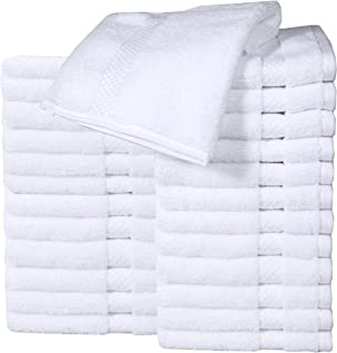 HomeLabels Cotton Washcloth Towel Set (24 Pack, White, 12