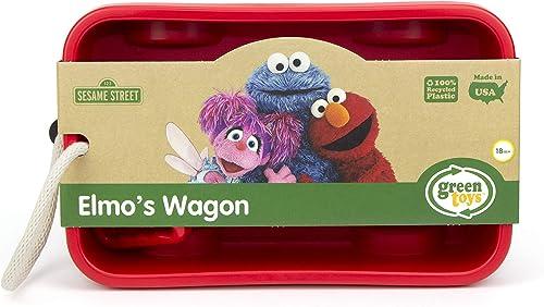 Green Toys Elmo's Wagon, red, 1 ea