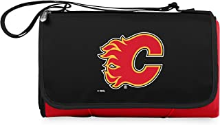 PICNIC TIME Unisex NHL Calgary Flames Outdoor Picnic Blanket Tote, Red 820-00-100-054-10, Red