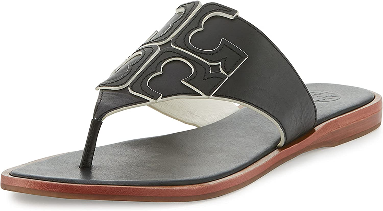 Tory Burch Jamie Logo Flat Thong Sandal