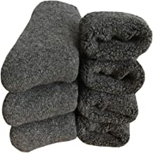 Mens Heavy Thick Wool Socks - Soft Thermal Fuzzy Warm Winter Socks (Pack of 3),Multicolor,One Size