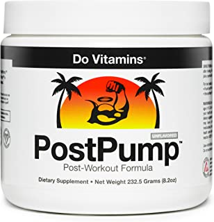 PostPump - Clean Post Workout Recovery Drink - Muscle Builder with Creapure Creatine Monohydrate, L Carnitine, BCAA - Certified Vegan Paleo Keto (30 Servings)