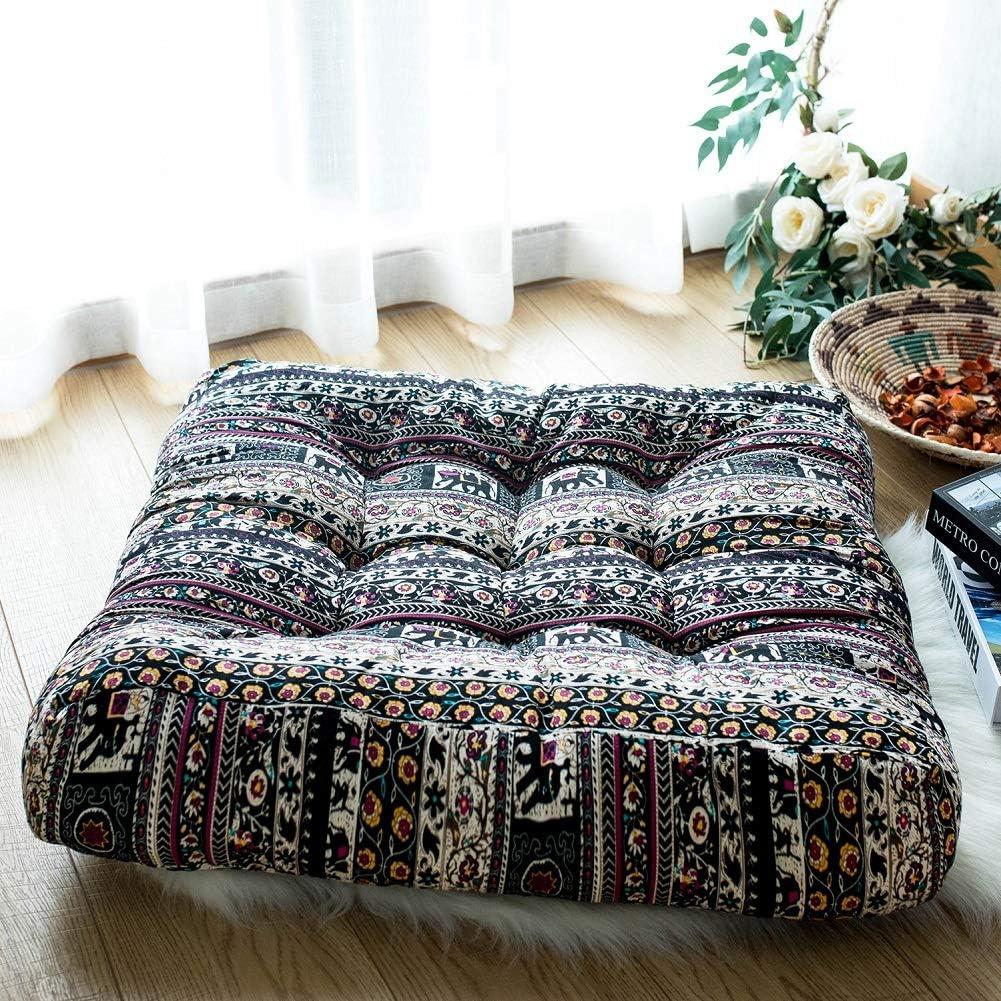 FAMIFIRST Cotton Linen Super intense SALE Square Solid Cushion 2021 Meditation Yog Floor