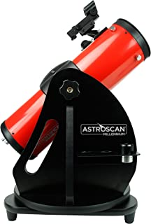 Astroscan Millennium Dobsonian Reflector Portable 114mm Objective Lens Telescope with Azimuth Mount & Exclusive Star and Planet Locator