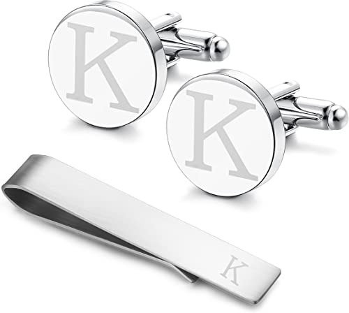 Shamrock Tie Clip and Cufflinks,Wedding Cufflinks and Tie Clip Set,Engraved Cuff Links and Tie Clip,Groom Wedding Gift,Gift for Fathers Day