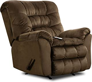 Simmons Upholstery ROCKER RECLINER W/HEAT AND MASSAGE, Brown